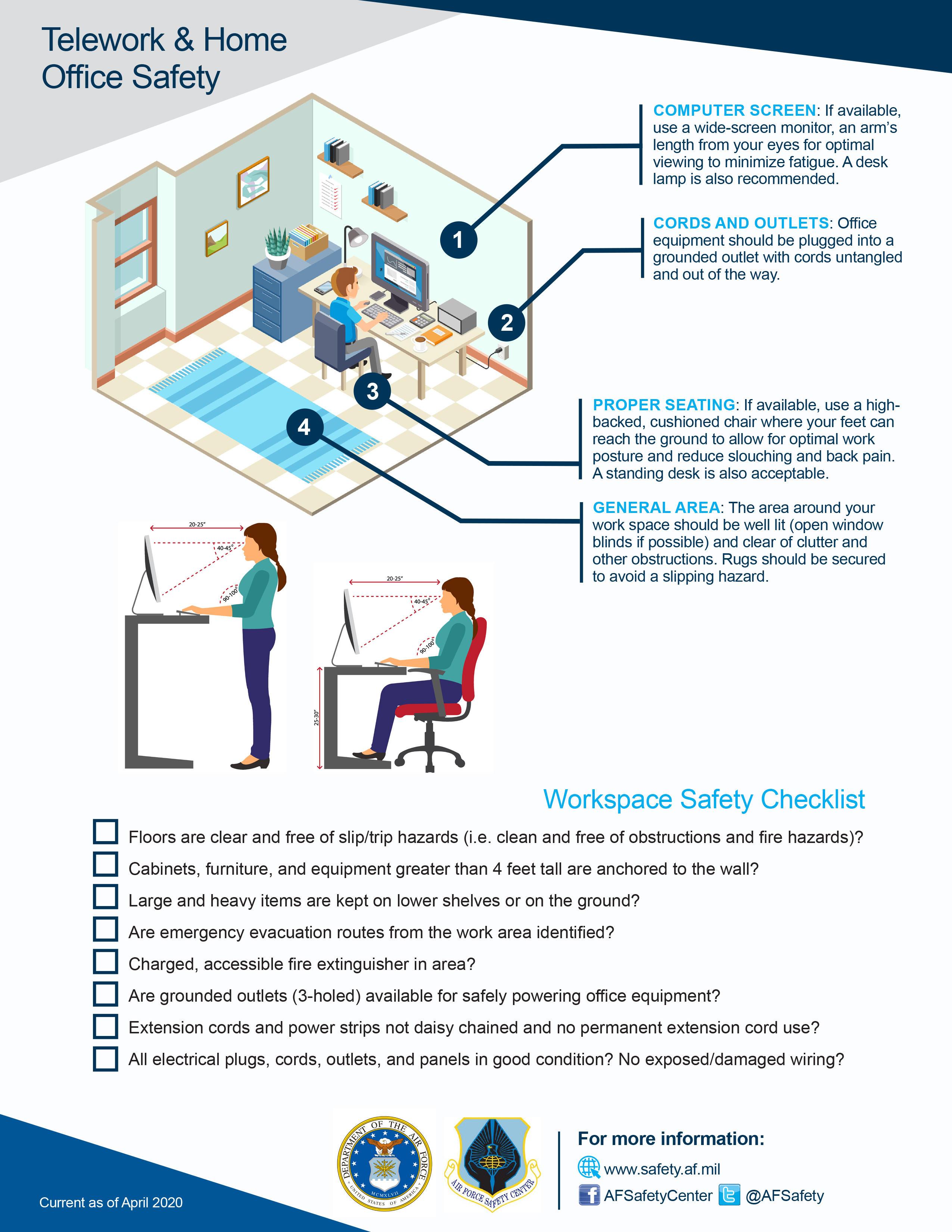 Telework & Home Office Safety Checklist