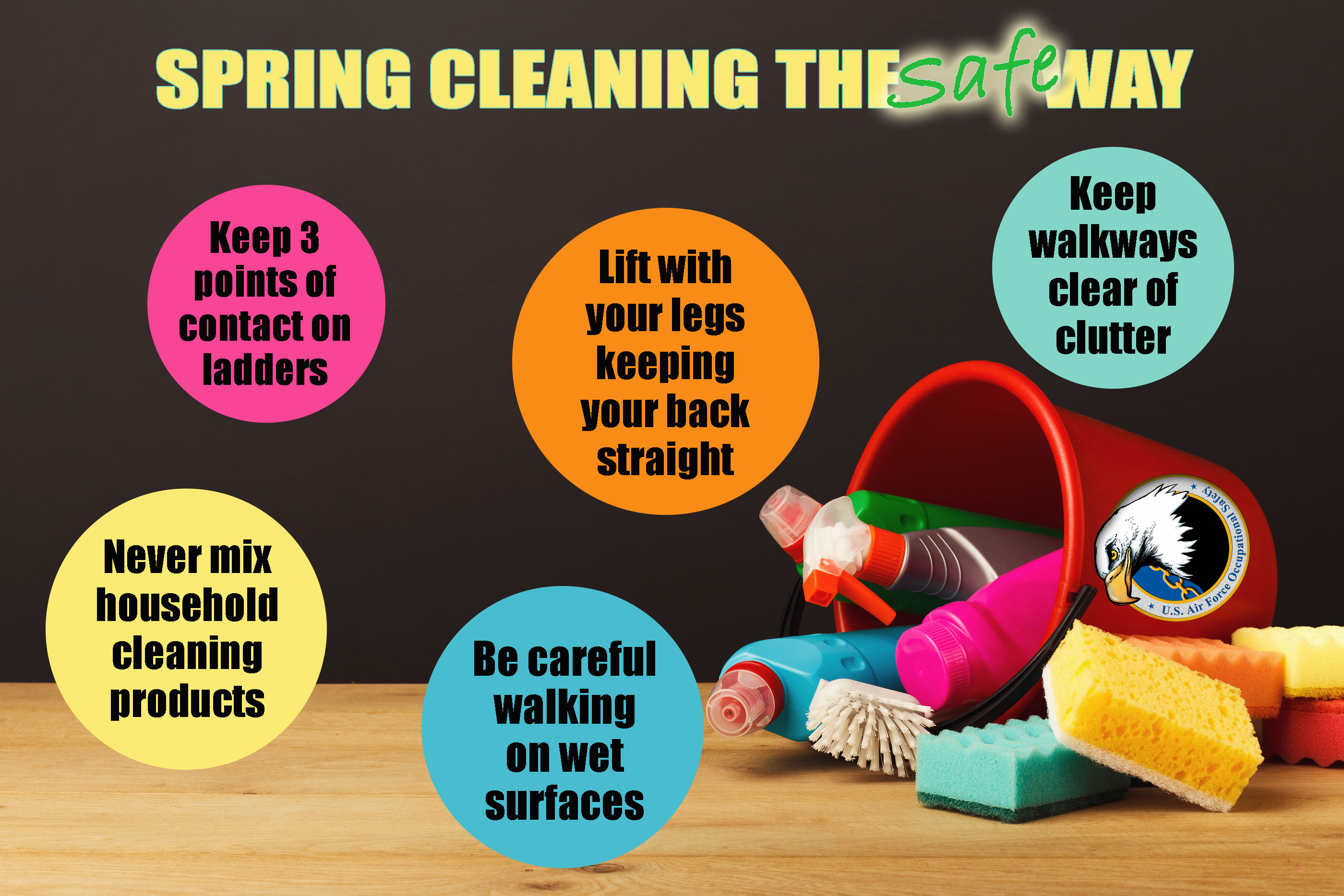 Spring Cleaning the safe way poster