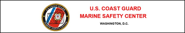 Link to United States Coast Guard Marine Safety Center