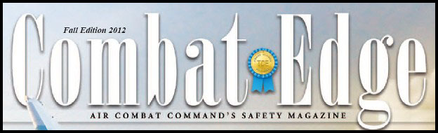 Link to Air Combat Command's Safety magazine Combat Edge